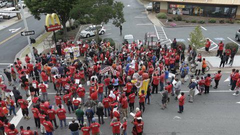 Activists march in Durham.
