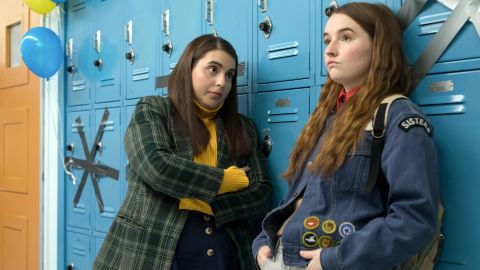 """(May 24) -- Olivia Wilde makes her movie directing debut with a coming-of-age teen comedy about two friends (Beanie Feldstein and Kaitlyn Dever) who have spent all of high school studying to get into good schools and suddenly realize they've missed out on all the fun. So they decide to try to fill in what they missed in one night, a premise that owes a thematic debt to """"American Graffiti."""" The adult cast includes Lisa Kudrow, Jessica Williams and Wilde's off-screen partner, Jason Sudeikis."""