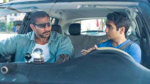 """(July 12) -- In this promising summer comedy, Stu (Kumail Nanjiani) is a struggling Uber driver with one star reviews when a cop named Vic (Dave Bautista) gets in his car to go after some drug dealers. Adding to the strangeness, Vic's just had Lasik surgery and takes Stu for a ride. """"Stuber"""" also stars Iko Uwais, Natalie Morales and Mira Sorvino. <br />"""