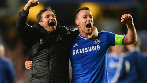 Former Chelsea teammates Frank Lampard and John Terry will be on opposing sides Monday.