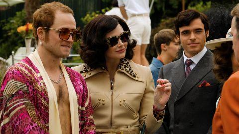 Taron Egerton, Bryce Dallas Howard and Richard Madden in 'Rocketman'
