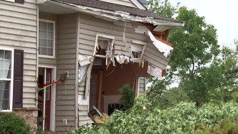 Houses near Morgantown suffered heavy damage Tuesday evening.