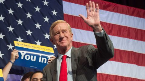 """Republican presidential candidate Bill Weld called on President Donald Trump to resign Wednesday, writing in an op-ed that the country would be """"better served with a President Mike Pence."""""""