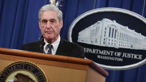 WASHINGTON, DC - MAY 29: Special Counsel Robert Mueller makes a statement about the Russia investigation on May 29, 2019 at the Justice Department in Washington, DC. (Photo by Chip Somodevilla/Getty Images)