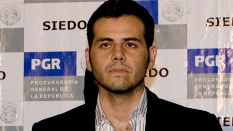 Vicente Zambada Niebla is shown off to media after his March 2009 arrest in Mexico.