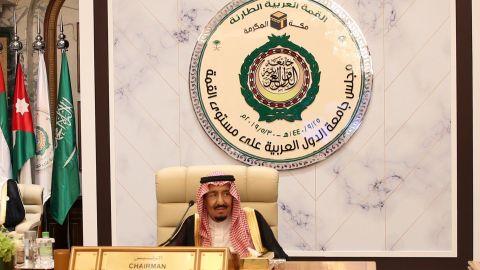 Saudi King Salman hosed the special Arab summits in Mecca.