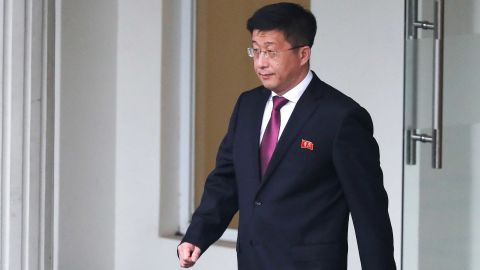 Kim Hyok Chol, North Korea's special representative for U.S. affairs, leaves the Government Guesthouse in Hanoi, Vietnam, February 23, 2019. REUTERS/Athit Perawongmetha