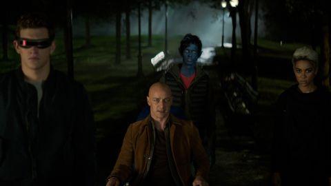 Tye Sheridan, James McAvoy, Kodi Smit-McPhee, and Alexandra Shipp in 'Dark Phoenix'