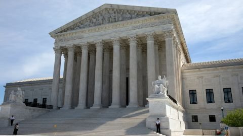The U.S. Supreme Court is seen while The Court is hearing oral arguments on whether the Trump administration broke the law by deciding to ask about citizenship on the mandatory 2020 census. Tuesday, April 23, 2019, Washington, D.C.  (Photo by Aurora Samperio/NurPhoto via Getty Images)