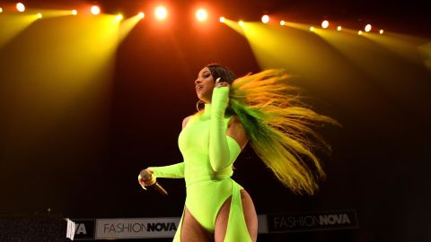 LOS ANGELES, CA - MAY 08:  (EDITORS NOTE: Retransmission with alternate crop.) Cardi B performs onstage as Fashion Nova Presents: Party With Cardi at Hollywood Palladium on May 9, 2019 in Los Angeles, California.  (Photo by Presley Ann/Getty Images for Fashion Nova)