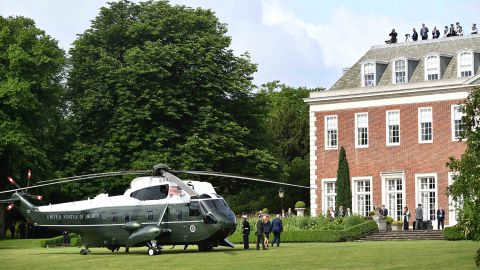 The Trumps arrive at Winfield House, the residence of the US ambassador, on June 3.