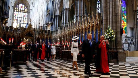 The Trumps tour Westminster Abbey on June 3.