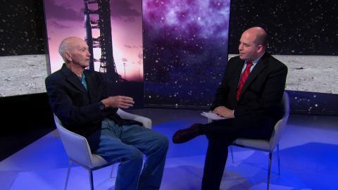 Michael Collins (L) sits down with CNN's Brian Stelter.