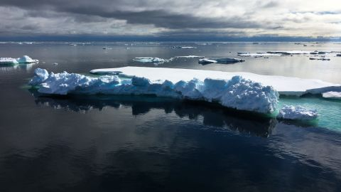 The Fram Strait, between Greenland & Svalbard, is the main gateway through which sea ice leaves the Arctic Ocean. On their way south towards the Atlantic Ocean, this is where ice floes like these come to die.