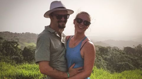Kaylynn Knull and Tom Schwander before they were sickened by what they believe was a chemical in their room at a hotel in the Dominican Republic.