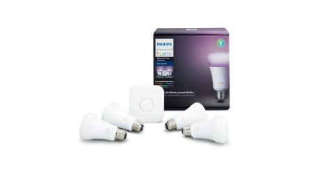 """A <a href=""""https://amzn.to/2XxfAG2"""" target=""""_blank"""" target=""""_blank"""">Philips Hue smart light starter kit </a>is a great gift, and scoring the premium model at a discount is even better. This kit includes four bulbs and the hub, but since these are color bulbs you can pick from more than 16 million colors. ($149, originally $199.99; <a href=""""https://amzn.to/2XxfAG2"""" target=""""_blank"""" target=""""_blank"""">amazon.com</a>)"""
