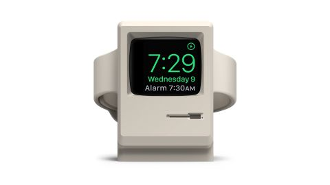 """Want a gift that goes back to the early days of computers? <a href=""""https://amzn.to/2K2h48a"""" target=""""_blank"""" target=""""_blank"""">Elago's W3 stand for Apple Watch</a> makes your smartwatch look like a miniature version of a classic Macintosh while it's charging. For the price, though, you'll need to bring your own Apple Watch Charger. ($9.99; <a href=""""https://amzn.to/2K2h48a"""" target=""""_blank"""" target=""""_blank"""">amazon.com</a>)"""