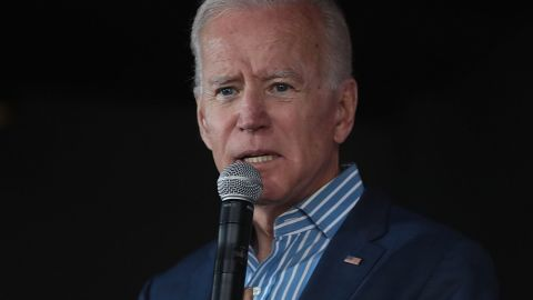 IOWA CITY, IOWA -- MAY 01: Democratic presidential candidate and former vice president Joe Biden speaks to guests during a campaign event at Big Grove Brewery and Taproom on May 1, 2019 in Iowa City, Iowa. Biden is on his first visit to the state since announcing that he was officially seeking the Democratic nomination for president.   (Photo by Scott Olson/Getty Images)