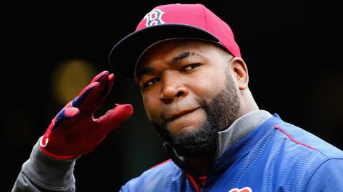 BOSTON, MASSACHUSETTS - APRIL 11:  David Ortiz #34 of the Boston Red Sox enters the dugout after batting practice before the Red Sox home opener against the Baltimore Orioles at Fenway Park on April 11, 2016 in Boston, Massachusetts.  (Photo by Maddie Meyer/Getty Images)