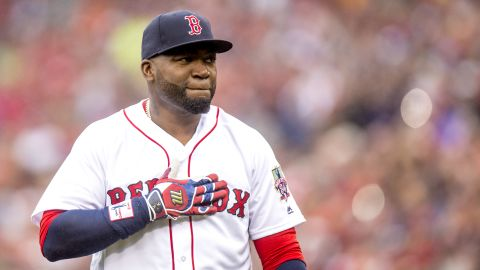 BOSTON, MA - OCTOBER 2: David Ortiz #34 of the Boston Red Sox is introduced during an honorary retirement ceremony in his final regular season game at Fenway Park against the Toronto Blue Jays on October 2, 2016 at Fenway Park in Boston, Massachusetts. (Photo by Billie Weiss/Boston Red Sox/Getty Images)