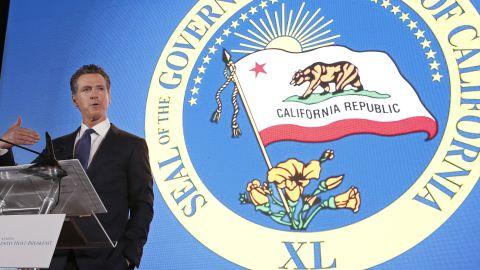 Gov. Gavin Newsom speaks at the California Chamber of Commerce's 94th Annual Sacramento Host Breakfast, Thursday, May 23, 2019, in Sacramento, Calif. (AP Photo/Rich Pedroncelli)