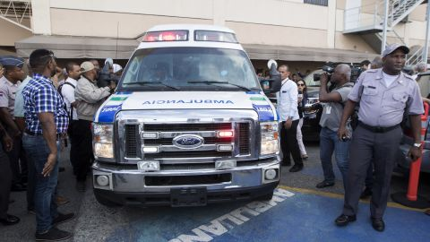 Ambulance carrying David Ortiz leaves the clinic where he was  admitted after June 9 shooting.