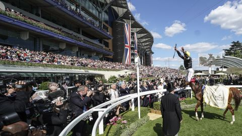 Royal Ascot features five top-level Group 1 races over its five days with the highlight being the Ascot Gold Cup. Jockey Frankie Dettori won on Stradivarius for trainer John Gosden in 2018.