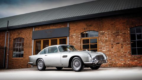 """from press release: RM Sotheby's, the official auction house of Aston Martin, has announced """"the most famous car in the world"""" and perhaps the most iconic Aston Martin of all time to lead 'An Evening with Aston Martin', a special single-marque sale session at the company's 2019 Monterey auction on 15 August. RM Sotheby's will present a 1965 Aston Martin DB5, one of just three surviving examples commissioned in period by Eon Productions and fitted with MI6 Q Branch specifications as pictured in Goldfinger."""
