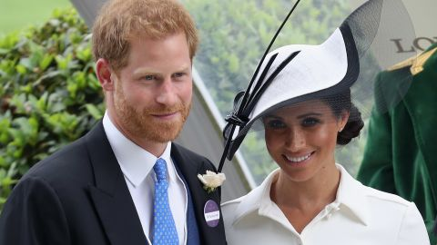 Meghan, Duchess of Sussex and Prince Harry, Duke of Sussex attend the prize ceremony of Royal Ascot Day 1 at Ascot Racecourse on June 19, 2018 in Ascot, United Kingdom.