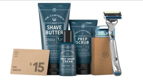 """The <a href=""""http://redirect.viglink.com?type=bk&opt=false&u=https%3A%2F%2Fwww.dollarshaveclub.com%2Fgift%2Fsets%2Fcomplete-shave-gift-set&key=ed7eb6546c416eb284920d7a87c6d8c4"""" target=""""_blank"""" target=""""_blank"""">Complete Shave Set</a> gives you everything you need to trim a beard and more. ($50, originally $56; <a href=""""http://redirect.viglink.com?type=bk&opt=false&u=https%3A%2F%2Fwww.dollarshaveclub.com%2Fgift%2Fsets%2Fcomplete-shave-gift-set&key=ed7eb6546c416eb284920d7a87c6d8c4"""" target=""""_blank"""" target=""""_blank"""">dollarshaveclub.com</a>)"""