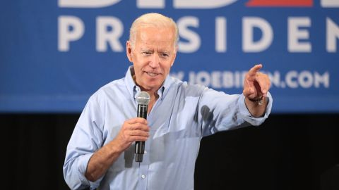 CLINTON, IOWA - JUNE 12: Democratic presidential candidate and former U.S. Vice President Joe Biden speaks during a campaign stop at Clinton Community College on June 12, 2019 in Clinton, Iowa. The stop was part of a two-day visit to the state. (Photo by Scott Olson/Getty Images)