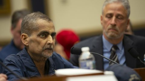Luis Alvarez, who is about to start his 69th round of chemo on June 12, testifies at a hearing on the 9-11 Victims fund before the Judiciary subcommittee on Capitol Hill in Washington D.C. on June 11, 2019. Credit: Stefani Reynolds / CNP | usage worldwide Photo by: Stefani Reynolds/picture-alliance/dpa/AP Images