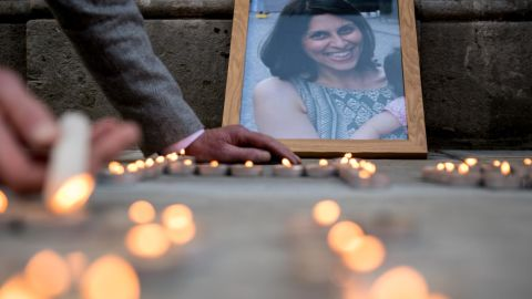 A vigil was held for Nazanin outside the Foreign Office in London in 2018.