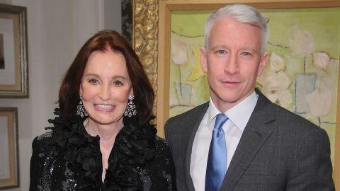 Gloria Vanderbilt and Anderson Cooper on November 4, 2010, in New York City.