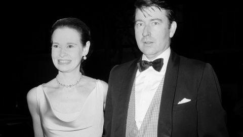 Gloria Vanderbilt and her playwright husband, Wyatt Cooper, in New York City on June 2, 1966.