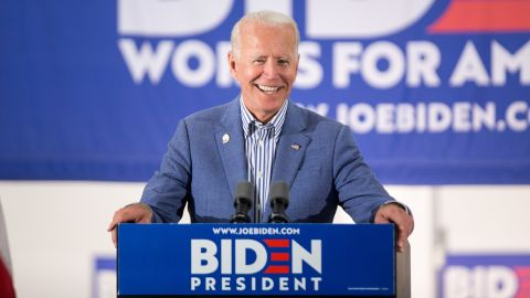 Former Vice President and Democratic presidential candidate Joe Biden holds a campaign event at the IBEW Local 490 on June 4, 2019 in Concord, New Hampshire.  (Scott Eisen/Getty Images)