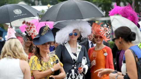 Light rain Tuesday couldn't dampen spirits at Royal Ascot in Berkshire, west of London.