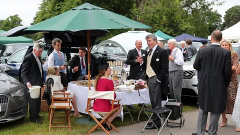 Upmarket picnics in the car park are a Royal Ascot tradition for some.