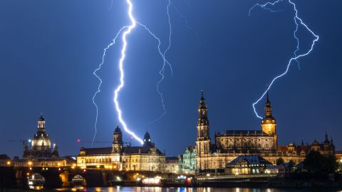 <strong>Dresden, Germany: </strong>A dramatic thunderstorm struck the German city of Dresden on the night of June 10.