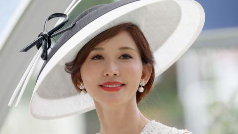 Taiwanese model, actress and singer Lin Chi-ling is one of a host of celebrities at Royal Ascot Wednesday.