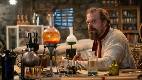 """<strong>""""Frankenstein's Monster's Monster, Frankenstein"""":</strong> In this new mockumentary, join """"Stranger Things"""" actor David Harbour as he uncovers lost footage from his father's televised stage play, Frankenstein's Monster's Monster, Frankenstein. Expect the unexpected in this over-the-top and often dramatic(ish) reimagined tale of mystery and suspense.<strong>(Netflix) </strong>"""