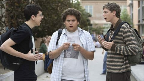 """<strong>""""Superbad""""</strong>: Determined to have sex before leaving for college, two teenagers agree to buy the booze for the coolest party in town, leading to a night they'll never forget. <strong>(Hulu) </strong>"""