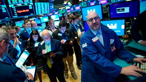 NEW YORK, NY - JUNE 20: Traders and financial professionals work after representatives from Slack rang the opening bell the New York Stock Exchange (NYSE), June 20, 2019 in New York City. The workplace messaging app Slack will list on the New York Stock Exchange this morning. NYSE set the reference price for the direct listing at $26 per share late on Wednesday. (Photo by Drew Angerer/Getty Images)