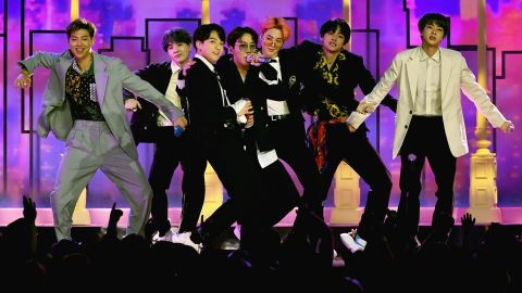 BTS perform onstage during the 2019 Billboard Music Awards at MGM Grand Garden Arena on May 1, 2019 in Las Vegas, Nevada.