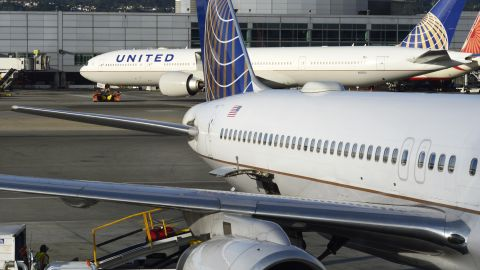SAN FRANCISCO, CALIFORNIA - SEPTEMBER 17, 2018:  United Airlines passenger planes are serviced at their gates at San Francisco International Airport in San Francisco, California. (Photo by Robert Alexander/Getty Images)