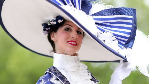 ASCOT, ENGLAND - JUNE 20: A guest on day three, Ladies Day, of Royal Ascot at Ascot Racecourse on June 20, 2019 in Ascot, England. (Photo by Chris Jackson/Getty Images)