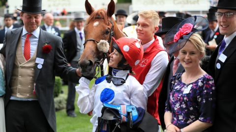 Hayley Turner becomes only the second female jockey to ride a winner at Royal Ascot and the first in 32 years after Gay Kelleway.