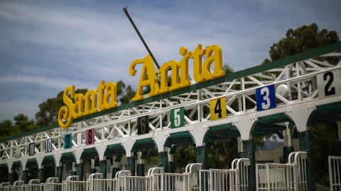 ARCADIA, CA - JUNE 11: Starting gates are seen at Santa Anita Park race horse track on June 11, 2019 in Arcadia, California. A second race horse in two days has died at the track, bringing the total horse fatalities to 29 since the racing season began in December. More than 60 horses have reportedly perished at the track since the start of 2018. The California Horse Racing Board asked the park to shut down for the rest of the season but Santa Anita officials say they will disregard the request.(Photo by David McNew/Getty Images)