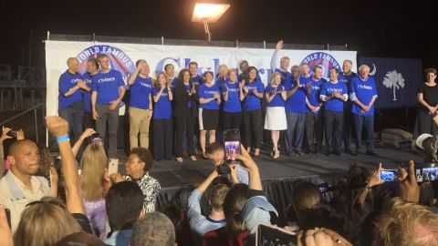 Democratic candidates attend Rep. Jim Clyburn's Fish Fry on Friday night