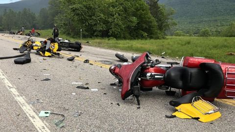 A 2016 Dodge 2500 traveling west on Route 2 in Randolph, NH collided with several motorcycles traveling east, resulting in multiple deaths and injuries, according to a press release from the New Hampshire State Highway Patrol.  Seven people were killed, two were injured and transported to the Androscoggin Valley Hospital. One was airlifted to Maine Medical in Portland.  The NH State Police, NH State Police Collision, Analysis and Reconstruction Unit and the Coos County Attorney are investigating.